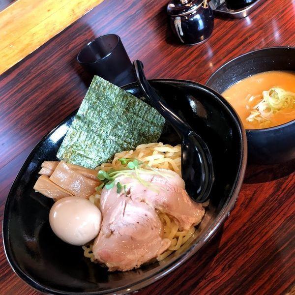「濃厚味噌つけ麺+味玉」@麺屋ひじり 嵐山店の写真
