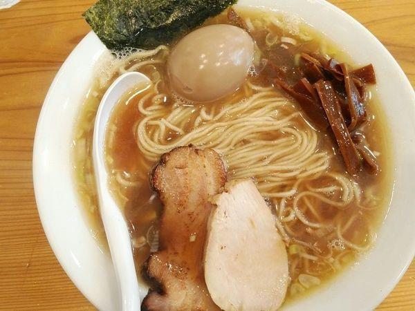 「味玉中華そば」@下町中華そば すずめ食堂の写真