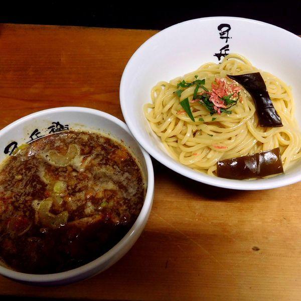「納豆つけ麺(中盛り300g 800円)」@つけ麺 千兵衛の写真