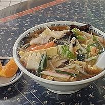 「チャンポンメン890円+大盛100円(麺硬め)」@富久栄楼の写真