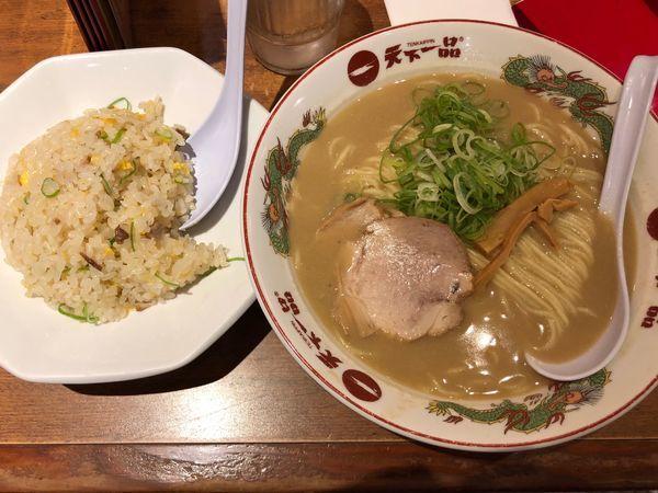 「ラーメン チャーハンセット」@天下一品 新宿西口店の写真