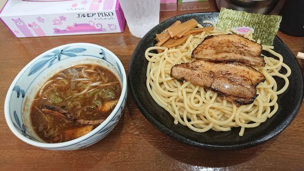 「つけそば(並) 800円 + 炙りチャーシュー丼 400円」@麺屋こうきの写真