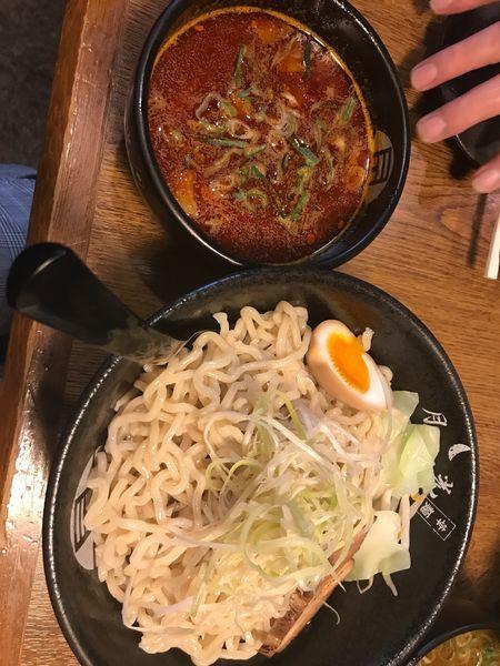 「激辛魚粉つけ麺」@らぁ麺酒場 月光(華麺)の写真