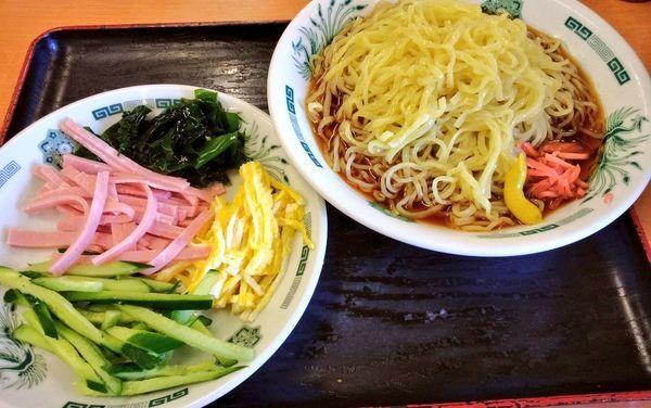 「黒酢醤油冷し麺」@日高屋 関内北口店の写真