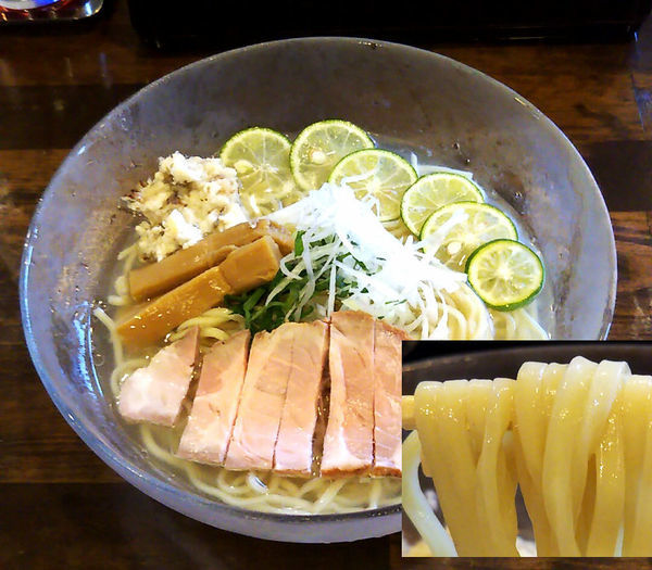 「冷製鯛そば¥800」@活龍 期間限定麺処 みつきの写真
