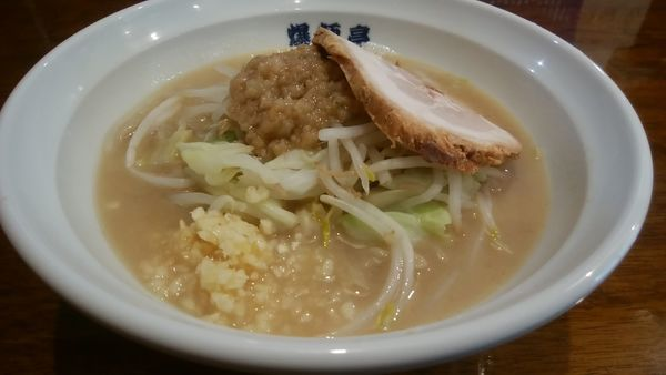 「爆麺小・野菜少なめ(700円)」@爆麺亭 所沢店の写真