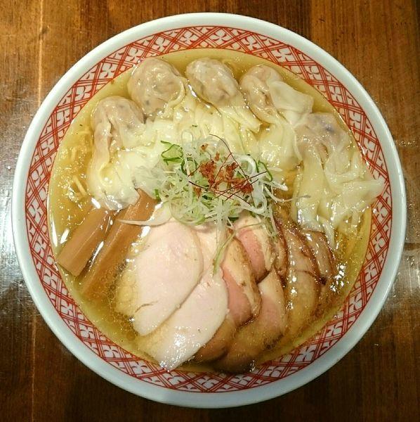 「特製チャーシューワンタン麺(白だし)」@支那そば しんばの写真