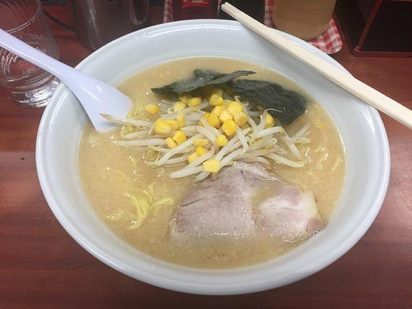 「中華そば味噌味+大盛(半額デー)500円」@中華そば まるいちの写真