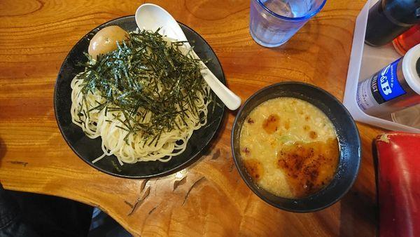 「冷やし味噌つけ麺」@上州地鶏ラーメン 翔鶴の写真