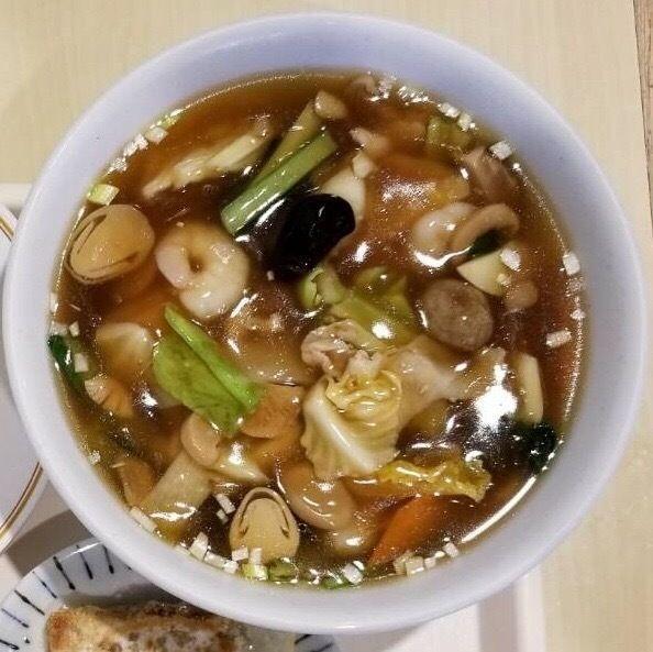 「五目麺セット(税込¥820)」@中国香港料理 帆船 イオン横浜新吉田店の写真