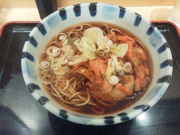 「かき揚げ天ぷらそば 360円」@そば新 御茶ノ水店の写真