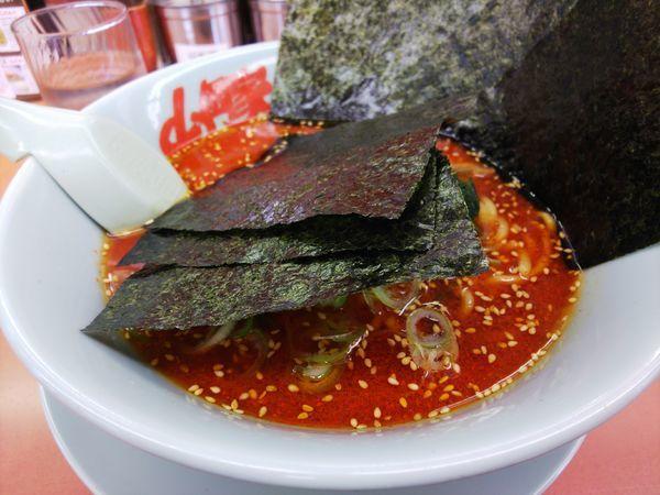 「辛味噌ラーメン辛さMAX(クーポンのり)」@ラーメン山岡家 上尾店の写真