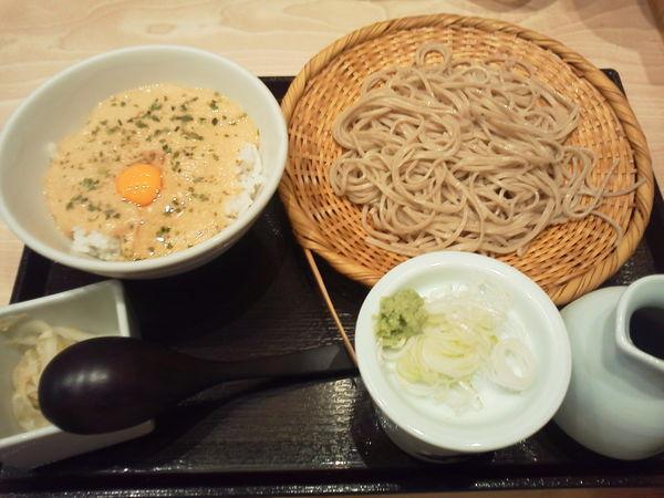 「山かけトロロ丼と蕎麦 780円+tax」@ソバキチ 池袋東武店の写真