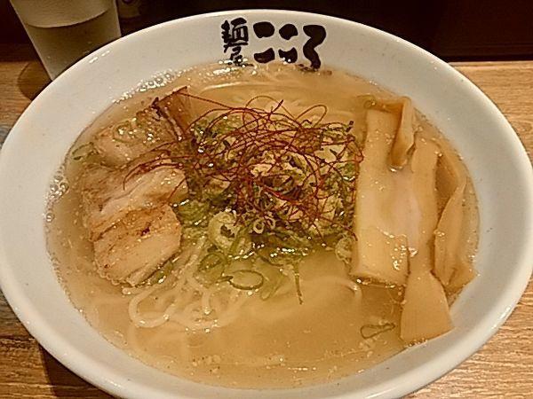 「塩ラーメン750円(+大盛120円)」@麺屋こころ 御茶ノ水店の写真