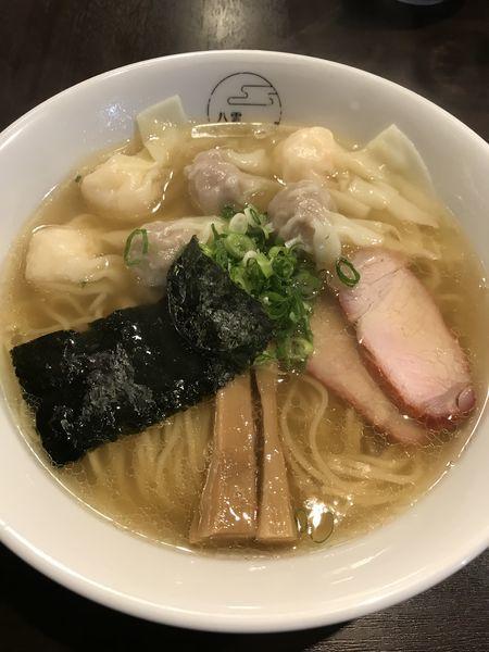 「特製ワンタン麺 白だし ¥1000」@八雲の写真