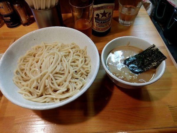 「つけ麺中盛800円 ビール600円」@麺屋 永太の写真