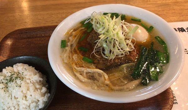 「塩担々麺(数量限定)+味玉+ご飯」@tamazouの写真