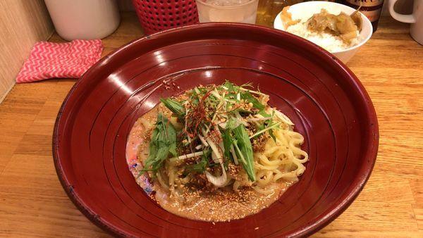 「汁なし金胡麻担々麺2辛¥780+小ライス無料」@金蠍の写真