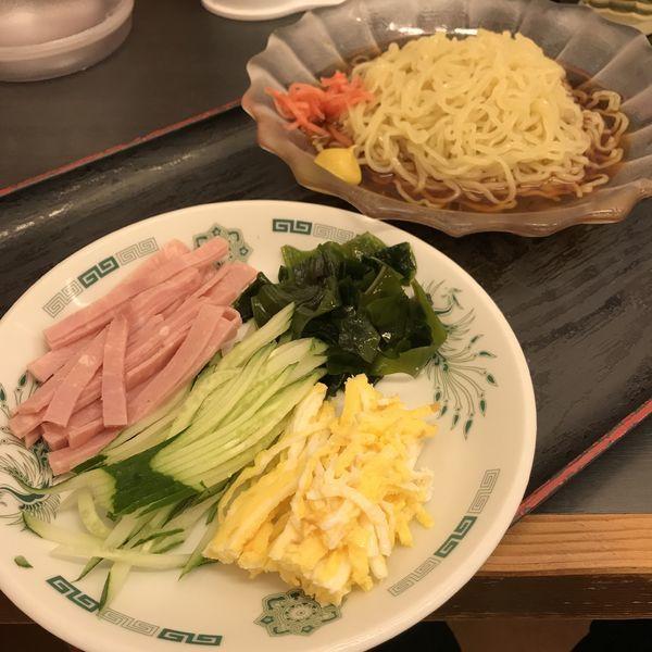 「【期間限定】黒酢しょうゆ冷し麺(¥530)」@日高屋 川崎砂子店の写真