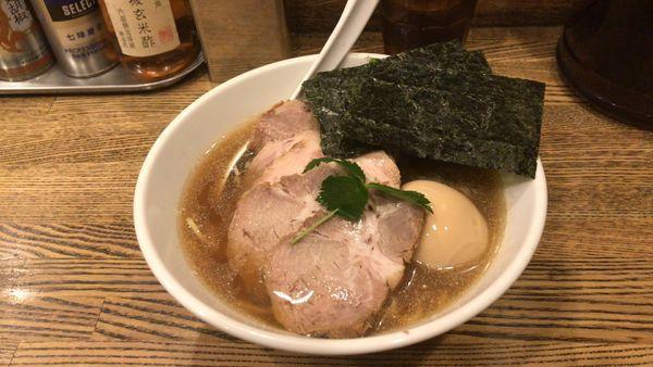 「特製平子煮干しそば¥950」@新橋 纏の写真