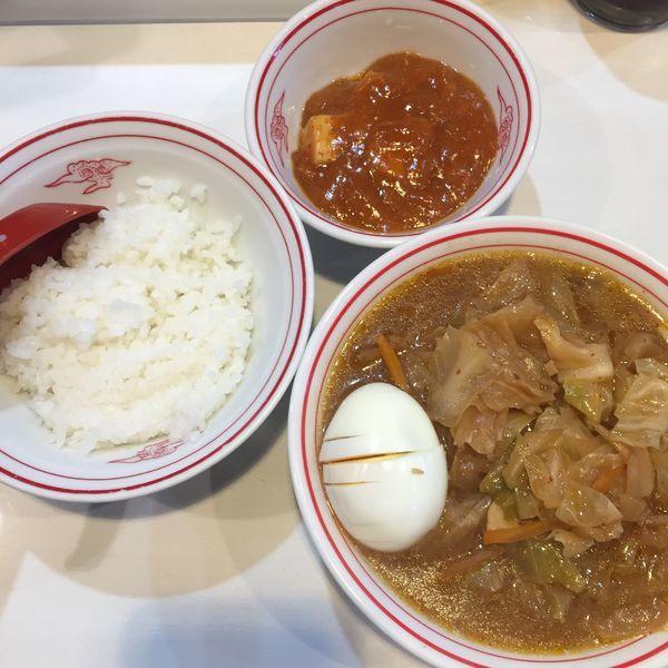「レディースセット 味噌タンメン ライス少なめ 600円」@蒙古タンメン 中本 亀戸店の写真