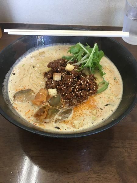 「ミルクたんたん麺(ゴマ強め)、替玉」@ごまやの写真