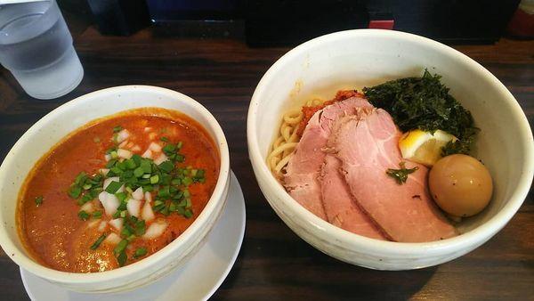 「ザ・要町タンタンつけ麺+なんこつご飯」@(麺)並木商事の写真