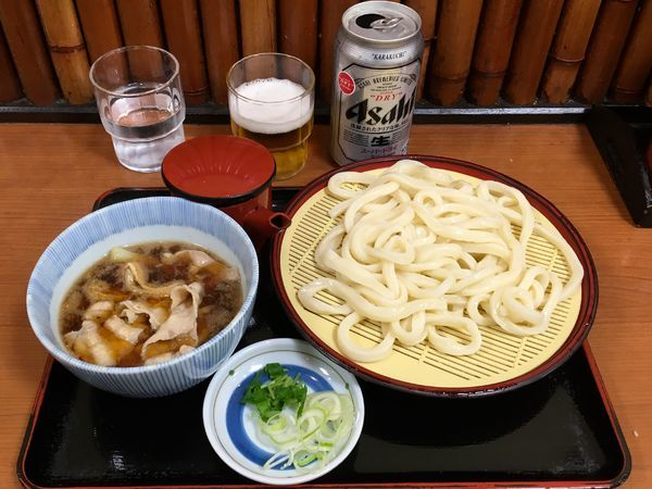 「アサヒスーパードライ→肉汁せいろ」@かのや 新宿東南口店の写真