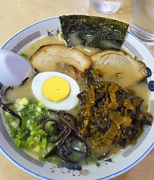 「ラーメン 650円+からし高菜 100円」@ラーメン一龍の写真
