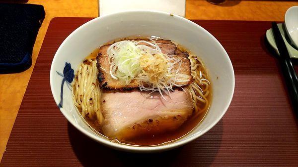 「生姜そば細麺+ごはん大そぼろ付き」@麺 みつヰの写真