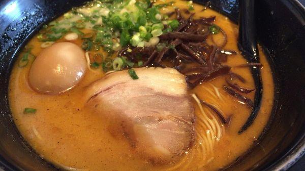 「甘えびラーメン+煮卵」@らうめん侍の侍の写真