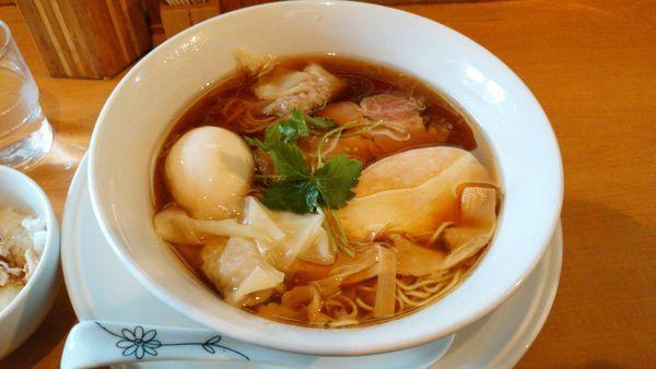 「特製醤油そば+ランチ丼10円」@中華そば 大井町 和渦の写真