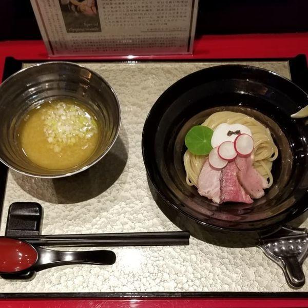 「特製つけ麺 1200円」@江戸前つけ麺 銀座 魄瑛の写真