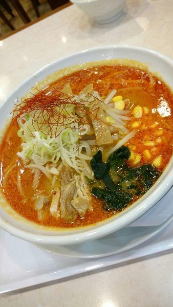 「雷味噌らぁ麺(中辛)842円」@らぁ麺 夢のや 連取店の写真