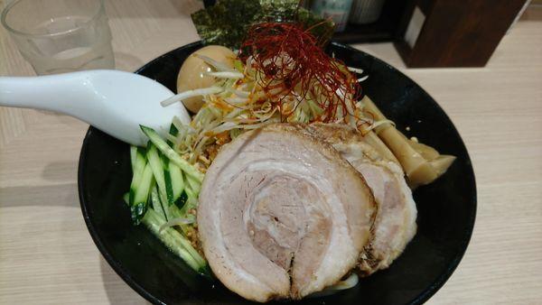 「冷やし汁無し担々麺大盛¥850+100」@頑者製麺所 エキア成増店の写真