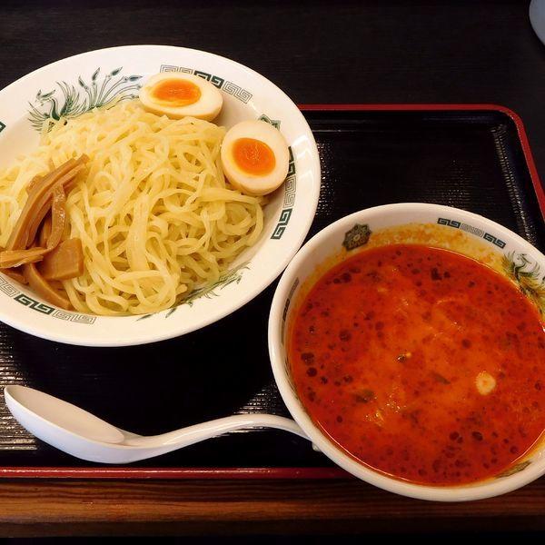 「エビ辛とんこつつけ麺(大盛同額 600円)」@日高屋 JR橋本駅店の写真