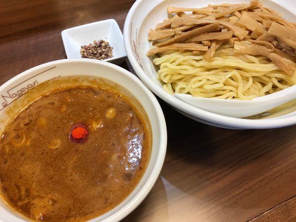 「辛つけ麺 中盛 メンマ 花椒 950円+200円+60円」@らーめん Nageyariの写真