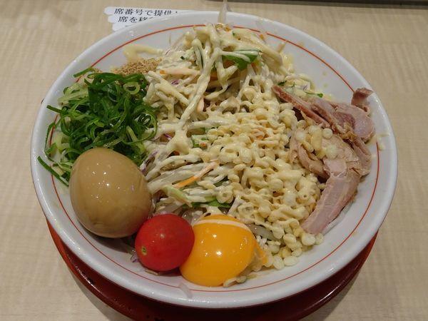 「味玉冷やし:中(780円)ガリマヨ」@替玉千里眼 志木店の写真