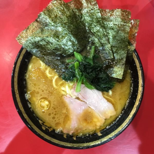 「ラーメン+干し芋10円」@家系総本山 吉村家の写真
