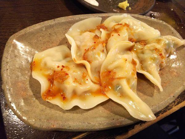 「手作り水餃子 390円」@立ち呑み居酒屋 金町製麺の写真