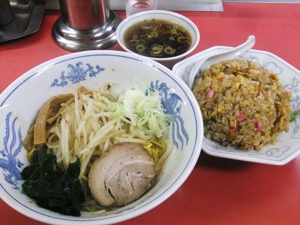 「油そば・みそチャーハンセット(1,000円)」@中華料理 丸善の写真