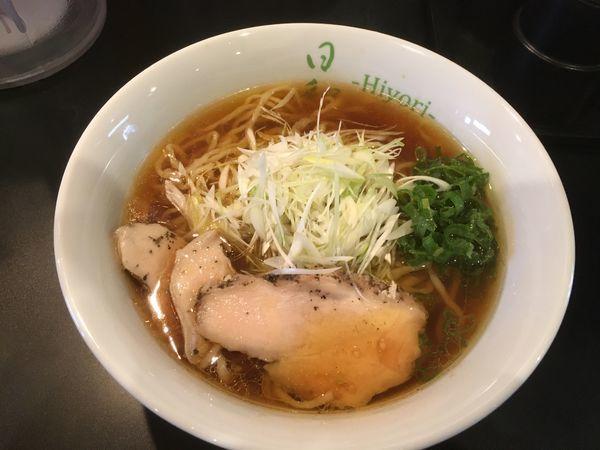 「鶏そば(醤油) ¥750」@鶏そば 日和-Hiyori-の写真