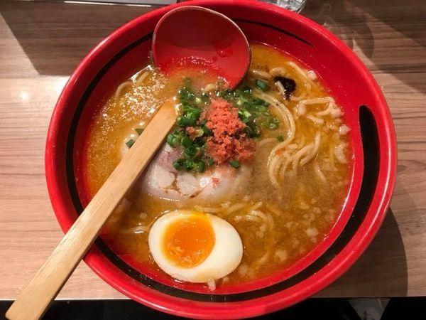 「えびみそ そのまま・太麺」@えびそば一幻 新千歳空港店の写真