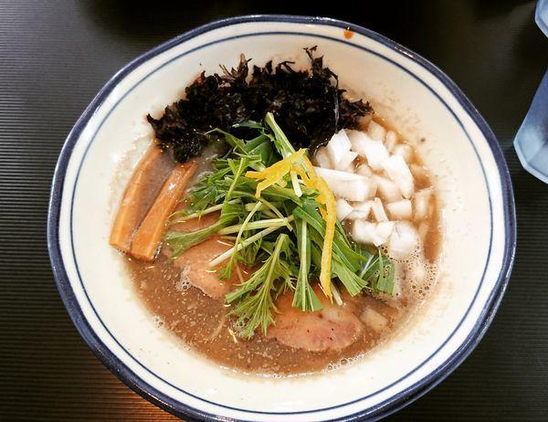 「【日曜限定】濃厚煮干拉麺 780円」@拉麺 阿吽の写真