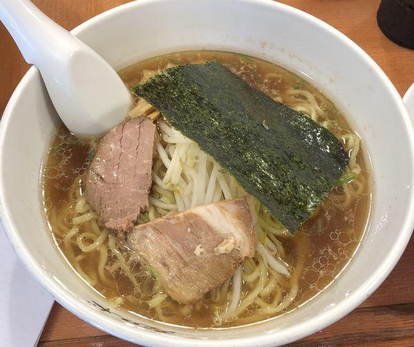 「醤油ラーメン+サービスライス(¥594)」@麺ロード 大森店の写真