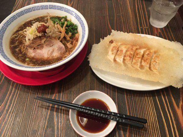 「紀州湯浅吟醸醤油ラーメン、羽根つき餃子」@麺屋 ひしおの写真