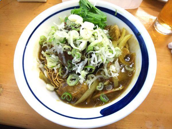 「【限定文月】揚げ蕎麦ぶっかけカレー南蛮Cスネ塊 1500円」@MENYA 食い味の道有楽の写真