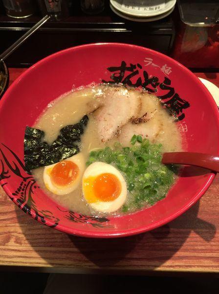 「元味ラーメン こってり 細麺」@ラー麺 ずんどう屋 梅田店の写真