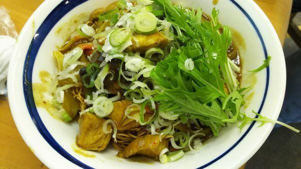「揚げ蕎麦ぶっかけカレー南蛮 C」@MENYA 食い味の道有楽の写真