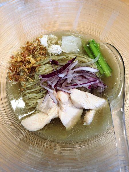 「【限定】煮干し冷やしらぁめん(お茶漬けセット)」@麺屋 さくら井の写真